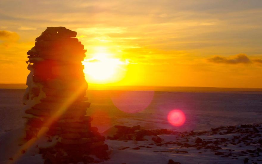 igloolik sunset