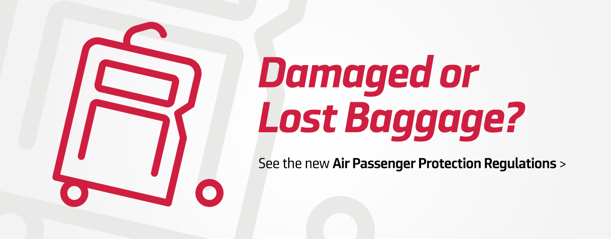 Damaged or Lost Baggage Promo slider