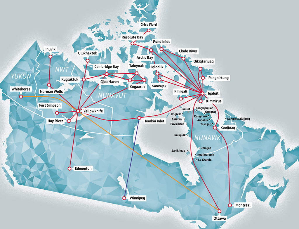 Canada Map Route Route Map | Canadian North